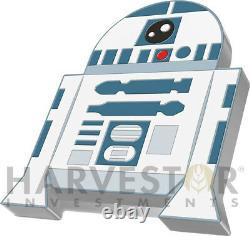 2020 Chibi Coin Star Wars Series R2-d2 1 Oz. Pièce D'argent Ogp Coa