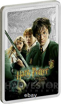 2020 Harry Potter And The Chamber Of Secrets Poster Coin 1 Oz.