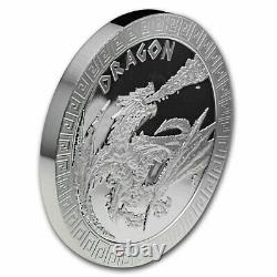 2020 Niue 1 Oz Argent Proof Mythical Creatures Dragon Sku #209440