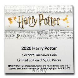 2020 Niue 1 Oz Proof Argent Harry Potter Sku #221521