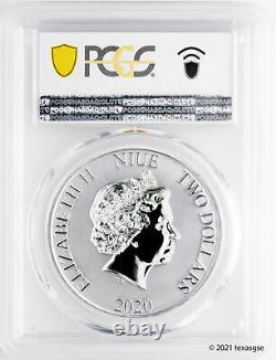 2020 Niue $2 Darth Vader 1oz Argent Coin Pcgs Ms70 Premier Jour D'émission