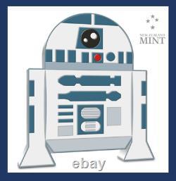 2020 Niue New Zealand Star Wars Chibi Coin R2-d2 1 Oz Argent Coa