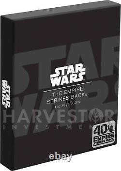 2020 Star Wars Empire Strikes Back 40th Anniversary Poster Coin 1 Oz. Argent