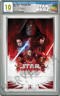 2020 Star Wars Le Dernier Jedi Premium Silver Foil Cgc 10 Gem Mint First Rel