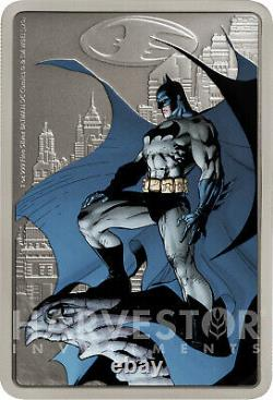 2020 The Caped Crusader Gotham City Poster Coin 1 Oz. Silver Coin Ogp
