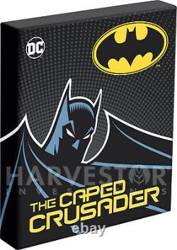 2020 The Caped Crusader The Kiss Poster Coin 1 Oz. Pièce D'argent Ogp Coa