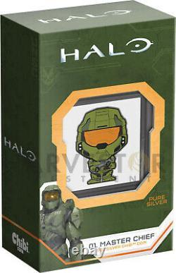 2021 Chibi Coin Halo Series Chef Principal 1 Oz. Pièce D'argent Ogp Coa