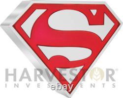 2021 DC Comics Superman Shield 1 Oz. Pièce D'argent Avec Ogp Coa