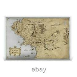 2021 Lord Of The Rings Middle Earth Carte 35g Silver Foil Poster 2000 Made
