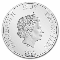 2021 Niue 1 Oz Argent 2 $ Disney Alice Au Pays Des Merveilles Ugs#234990