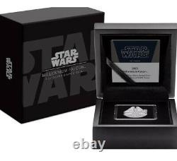 2021 Niue 1 Oz Silver Star Wars Millennium Falcon En Forme De Preuve Mint Vendu