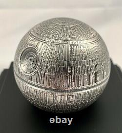 2021 Niue 100 $ Star Wars Death Star Sphérique 1 Kilo. 999 Pièces D'argent 299 Made