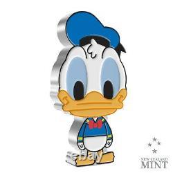 2021 Niue $2 Chibi Disney Donald Duck 1 Oz Pièce De Preuve En Argent $2,000 Fabriqué