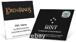2021 Niue 2 $ Lord Of The Rings Sauron 1 Oz Pièce De Preuve En Argent Ngc Pf 70 Ucam