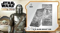 2021 Niue 20 $, 10 Oz Star Wars Mandalorian. 999 Bar Beskar Argent Fin, À Stock