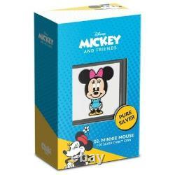 2021 Niue Chibi Disney Series Minnie Mouse 1oz Argent Pièce En Main