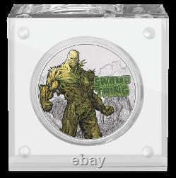 2021 Niue DC Justice League Swamp Thing 50th Ann. 1 Oz Pièce D'argent 1,971 Fabriqué