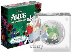 2021 Niue Disney Alice Au Pays Des Merveilles Lapin Blanc 1 Oz Pièce D'argent 2,000 Fabriqué