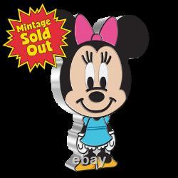 2021 Niue Disney Minnie Mouse Chibi 1oz. 999 Pièce D'épreuve D'argent Mintage 2 000