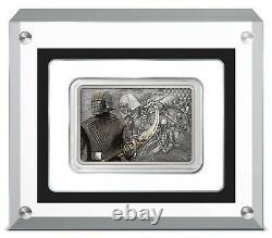 2021 Niue Star Wars Gardes De L'empire Chevaliers De Ren 1 Oz Silver Coin Bar