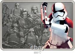 2021 Niue Star Wars Gardes De L'exécution De L'empire Trooper 1 Oz Silver Coin Bar