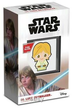 2021 Niue Star Wars Luke Skywalker Chibi 1oz Pièce De Preuve En Argent Vendu