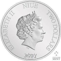2021 Niue Star Wars Mandalorian Cara Dune 1 Oz Pièce D'argent Vendu