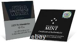 2021 Niue Star Wars Mandalorian Ig-11 1 Oz Pièce D'argent Vendu
