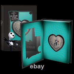2021 Niue The Nightmare Before Christmas 1 Oz Argent Colorized Coin Live