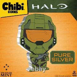 2021 Niue Xbox Halo Chef Chef Chibi 1oz Pièce De Preuve En Argent Vendu