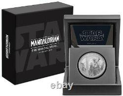 2021 Star Wars Classic Mandalorian 1oz Argent Pièce