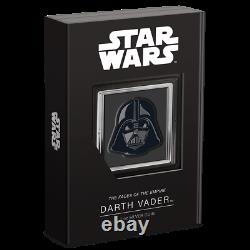 2021 Star Wars Faces De L'empire Darth Vader 1oz Preuve Pièce D'argent