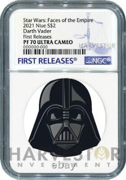2021 Star Wars Faces Of The Empire Darth Vader Ngc Pf70 Premières Versions
