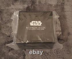 2021 Star Wars Millennium Falcon 1 Oz. 999 Boîte De Collection De Pièces En Forme D'argent