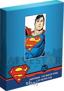 2021 Superman L'homme D'acier 1 Oz. Pièce D'argent Ogp Coa Superman #204