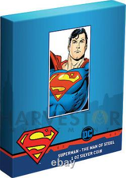 2021 Superman The Man Of Steel 1 Oz. Silver Coin Ngc Pf70 First Releases