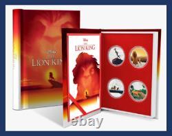 4 Coin Set 2019 Niue Nouvelle-zélande Disney Silver Lion King 25e Anniversaire