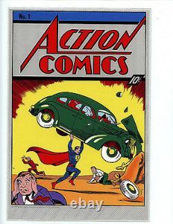 Action Comics #1 Cgc 10.0 35 Grams Silver Foil 2018 DC Superman Première Version