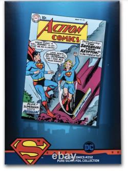 Action Comics #252 Première Version 9.9 Mint 35g Silver Foil 2019 DC Superman