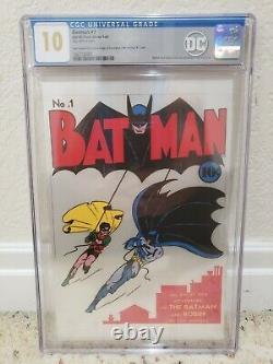 Batman #1 Silver Foil 10.0 Gem Mint Cgc. 999 Fine Silver Nouvelle-zélande Menthe 10