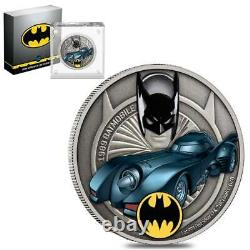 Batman DC Comics 1989 Batmobile 2021 Coin Silver 1oz Ngc Ms 70 Premières Libérations