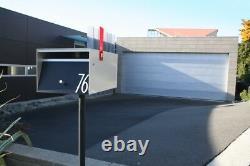 Box Design Rural Zincalume Modern Mailbox (no Lock Withflag)