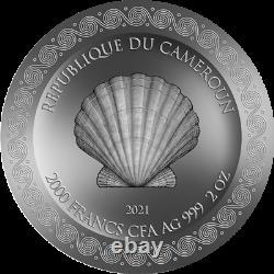 Cameroun 2021 Beauté Céleste Naissance De Vénus 2000 Francs Pièce D'argent 2 Oz