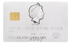 Carte De Crédit 2020 Niue 1 1/2 Oz Silver Coin 2 $ Ngc Pf 69 Matte Première Liberté