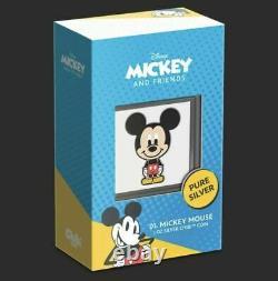 Chibi Coin Collection Disney Série Mickey Mouse 1oz Argent Pièce À La Main