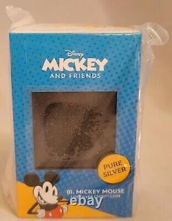 Chibi Coin Collection Disney Série Mickey Mouse 1oz Argent Pièce Nouveaut En Main
