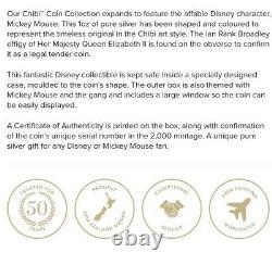 Chibi Coin Collection Disney Series Mickey Mouse 1oz Silver Coin Confirmé