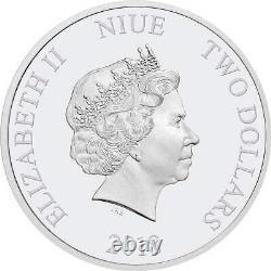 Cinderella Disney Princess 2018 Niue 1oz Silver Coin Ngc 69 Uc Premières Libérations