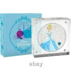 Cinderella Disney Princess 2018 Niue 1oz Silver Coin Ngc Pf 70 Uc Premières Libérations