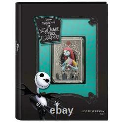 Coa #0019 Sally Nightmare Avant Christmas 2021 1oz Silver Coin 2 Nz Mint